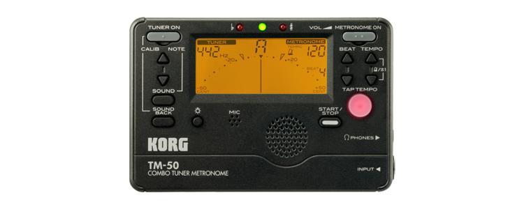 Korg TM-50 Tuner Metronome - Black image 1