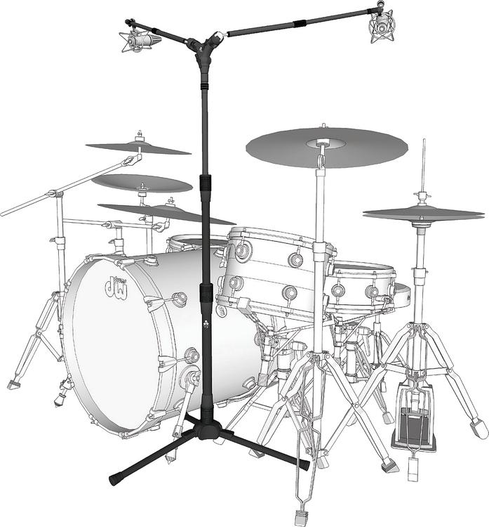 triad orbit drum overhead system microphone stand package sweetwater. Black Bedroom Furniture Sets. Home Design Ideas
