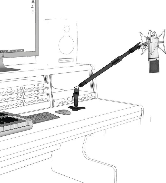 Triad-Orbit Installation Boom System Microphone Stand