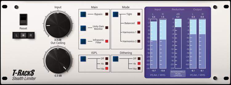 IK Multimedia T-RackS Stealth Limiter Plug-in image 1