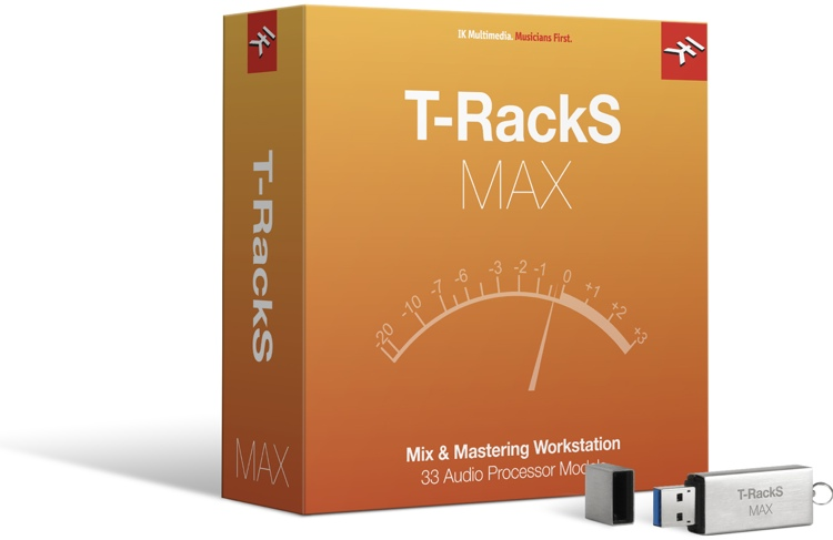 IK Multimedia T-RackS MAX Bundle (boxed with USB Drive) image 1