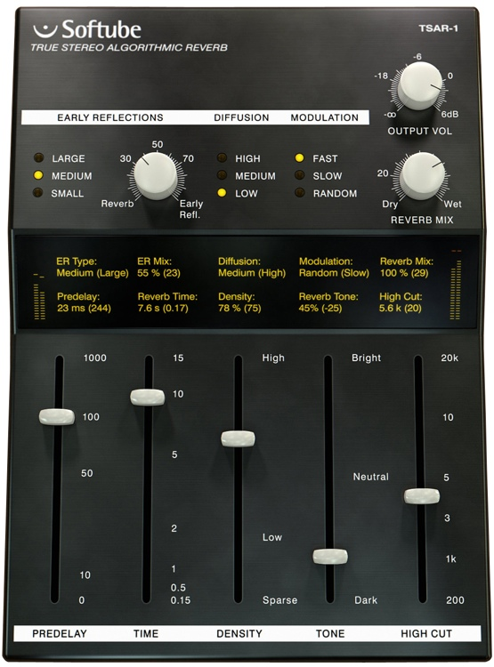 Softube TSAR-1 Reverb Plug-in image 1