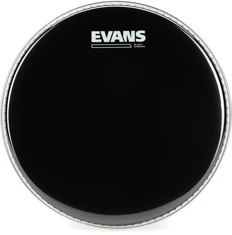 Evans TT10CHR Black Chrome Tom Batter Head - 10