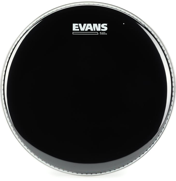 Evans TT12CHR Black Chrome Tom Batter Head - 12