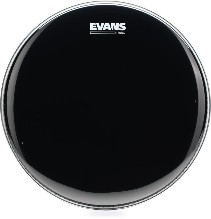 Evans TT14CHR Black Chrome Tom Batter Head - 14