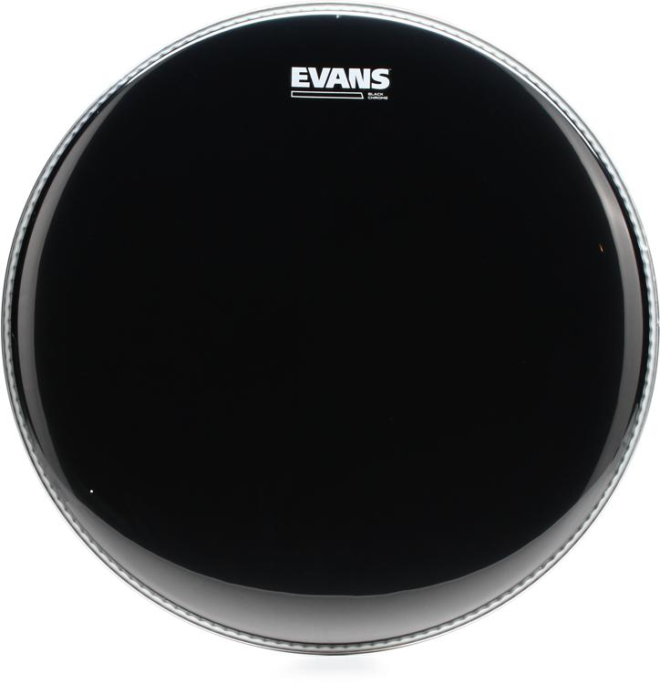 Evans TT16CHR Black Chrome Tom Batter Head - 16