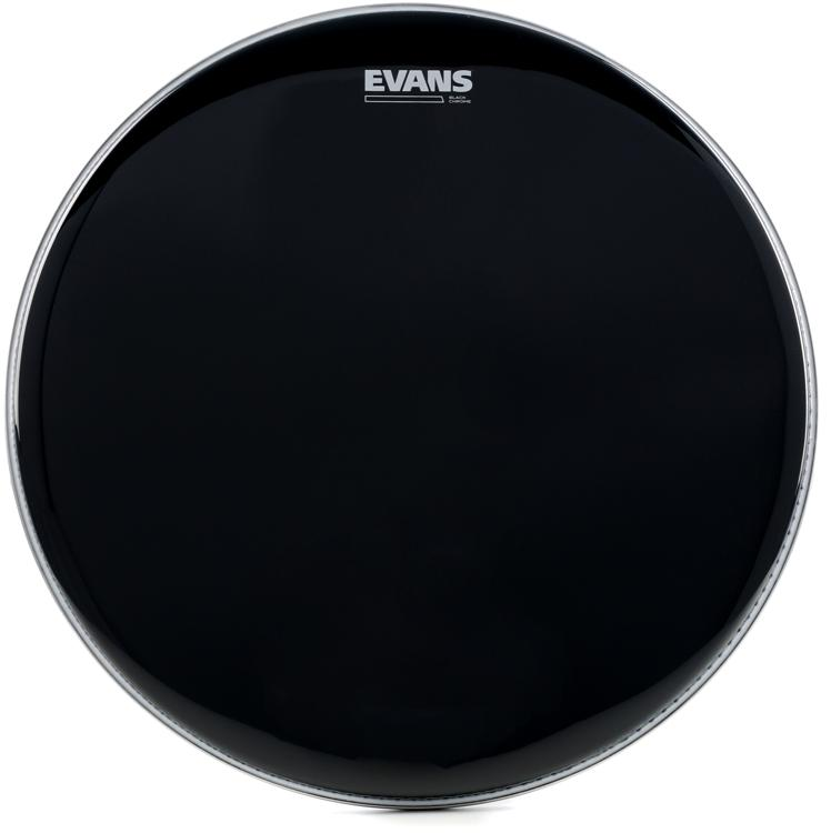 Evans TT18CHR Black Chrome Tom Batter Head - 18