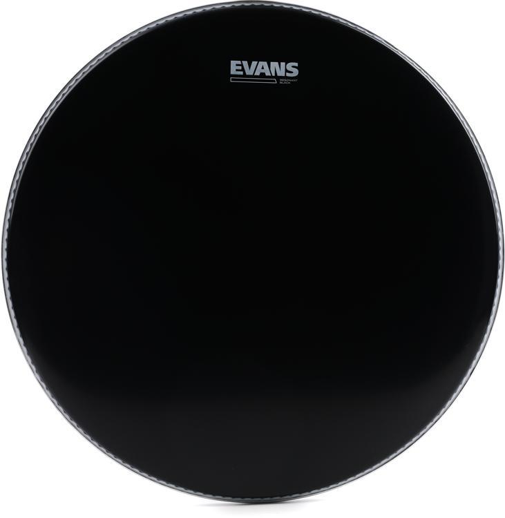 Evans Resonant Black Tom Head - 18