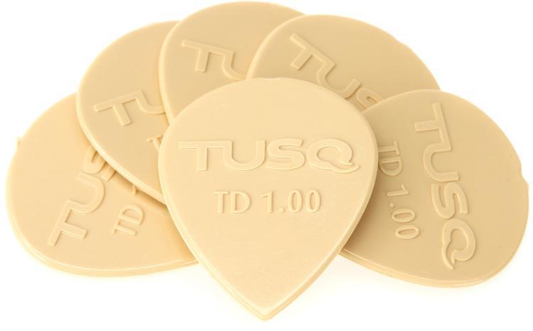 Graph Tech Tusq Tear Drop 1.0mm Pick - Warm 6-Pack image 1