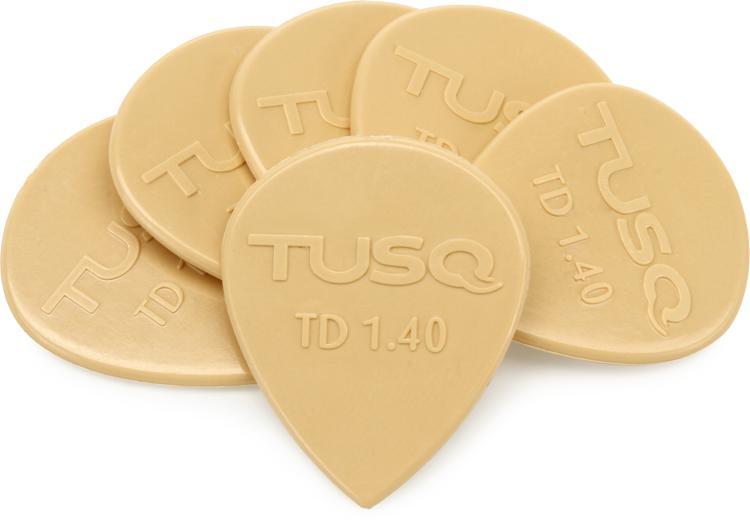 Graph Tech Tusq Tear Drop 1.4mm Pick - Warm 6-Pack image 1