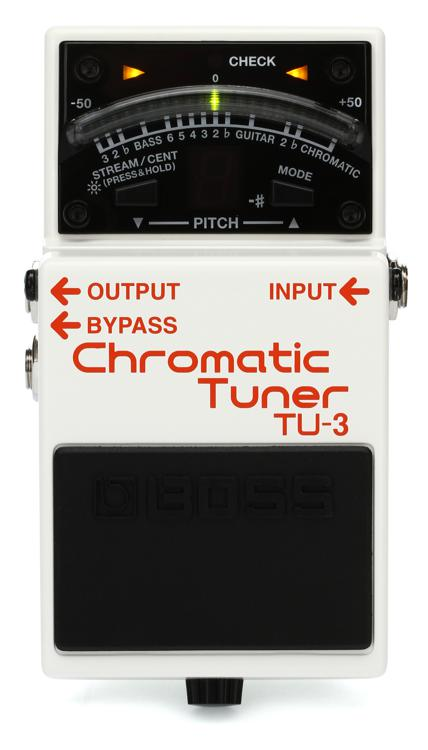 Boss TU-3 Chromatic Tuner Pedal with Bypass image 1