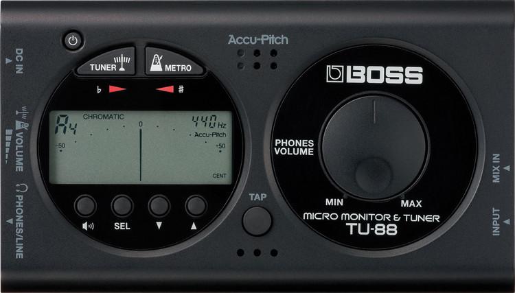 Boss TU-88 Tuner and Metronome - Black image 1