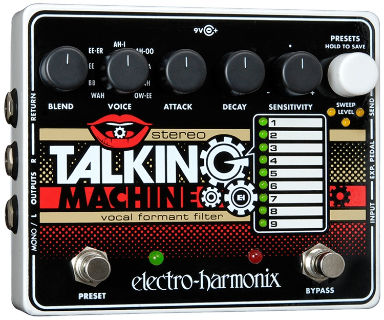 Electro-Harmonix Stereo Talking Machine Vocal Formant Filter Pedal image 1