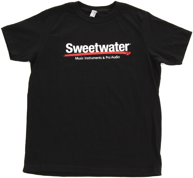 Sweetwater Logo T-shirt - Black, Youth Small image 1