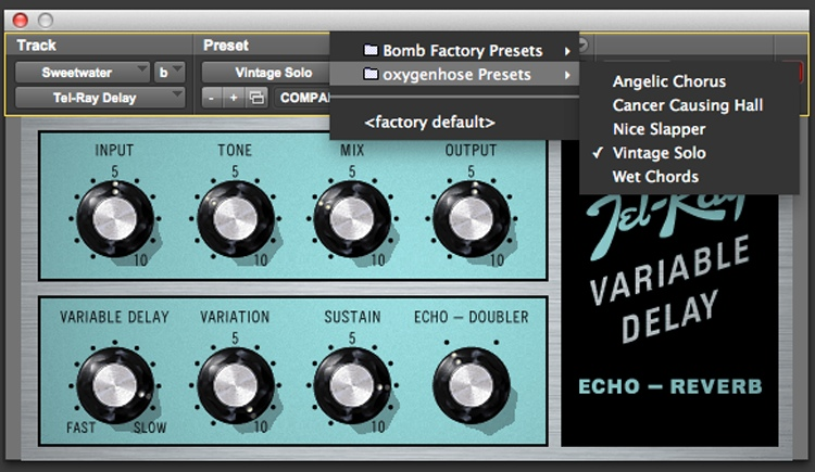 Avid Tel-Ray Variable Delay Plug-in image 1