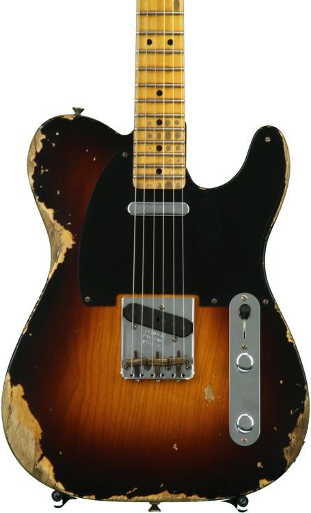 Fender Custom Shop 1951 Time Machine Heavy Relic Telecaster - Faded 2-color Sunburst image 1