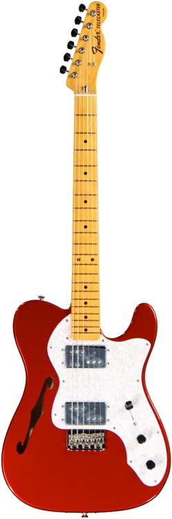 Fender American Vintage \'72 Tele Thinline - Thinline Candy Apple Red image 1