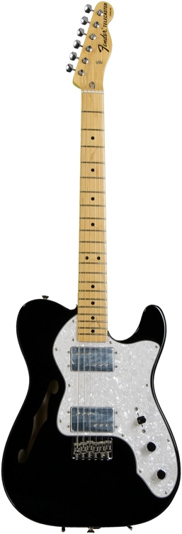 Fender FSR American Vintage \'72 Telecaster Thinline - Black, Slight Case Rash on Back image 1