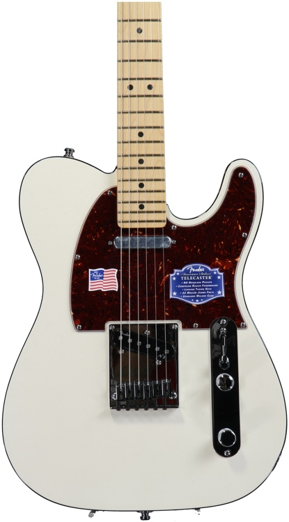 Fender American Deluxe Telecaster - Olympic Pearl, Maple image 1
