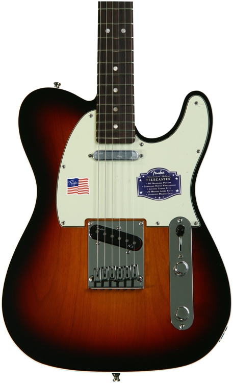 Fender American Deluxe Telecaster - 3-Color Sunburst, Rosewood image 1