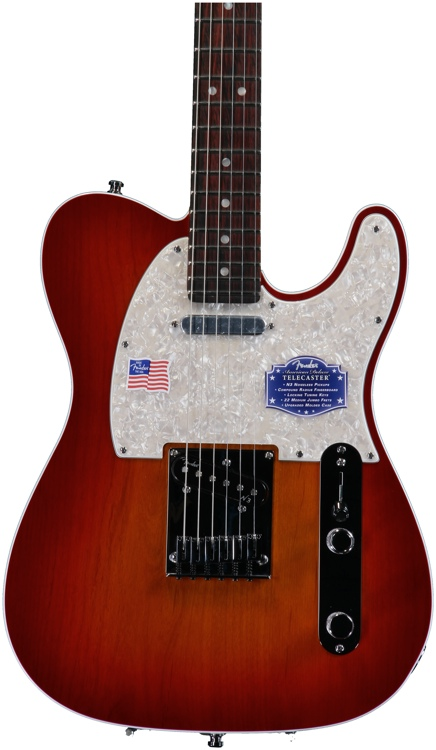 Fender American Deluxe Telecaster - Aged Cherry Burst, Rosewood image 1