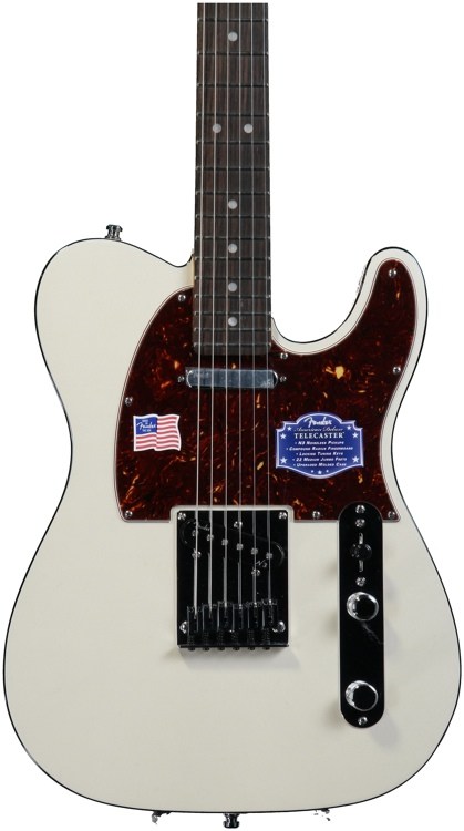 Fender American Deluxe Telecaster - Olympic Pearl, Rosewood image 1