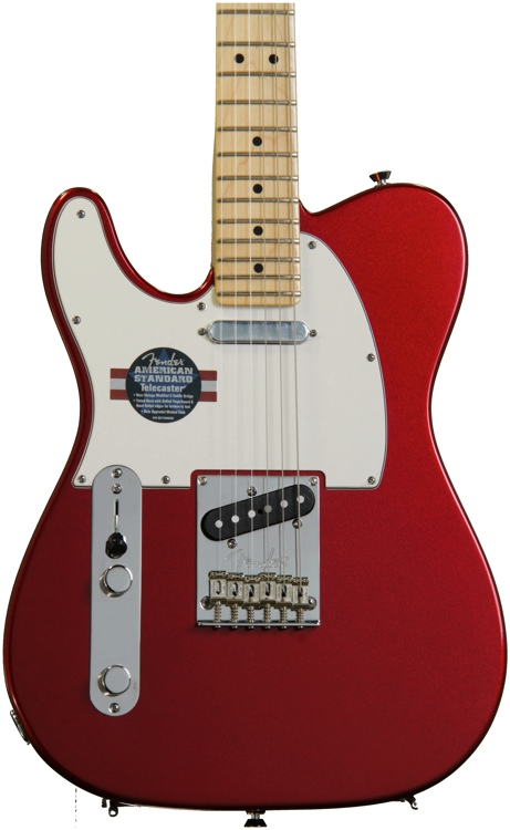 Fender American Standard Telecaster - Mystic Red, Maple, Left Hand image 1