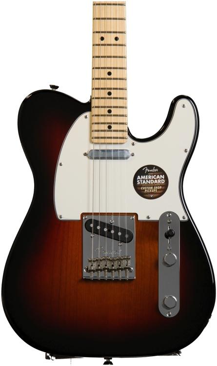 Fender American Standard Telecaster - 3-color Sunburst with Maple Fingerboard image 1