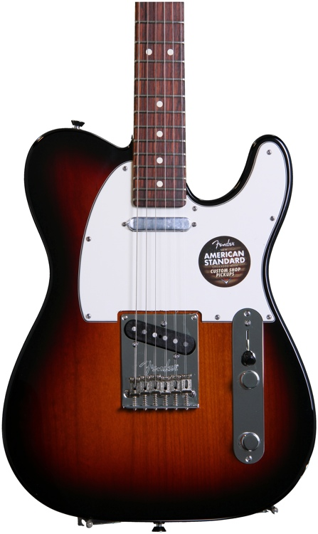 Fender American Standard Telecaster - 3-color Sunburst with Rosewood Fingerboard image 1
