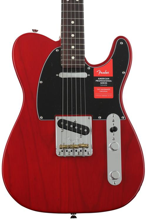 Fender American Professional Telecaster - Crimson Transparent with Rosewood Fingerboard image 1