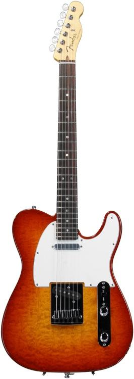Fender Custom Shop 2012 Custom Deluxe Telecaster - Cherry Sunburst, Case Rash image 1