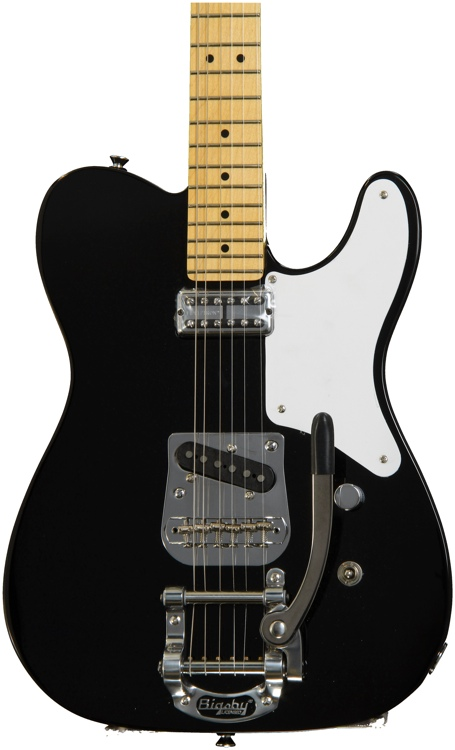 Squier Vintage Modified Cabronita Telecaster with Bigsby - Black image 1