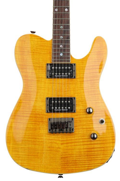 Fender Custom Telecaster FMT HH - Amber with Rosewood Fingerboard image 1