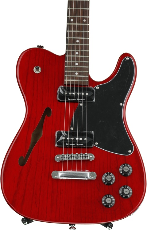 Fender Jim Adkins JA-90 Telecaster Thinline - Crimson Transparent with Rosewood Fingerboard image 1