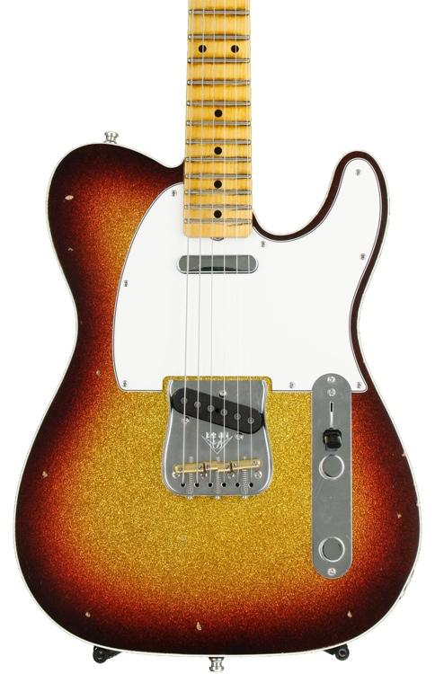 Fender Custom Shop Postmodern Journeyman Relic Tele - 3-color Sunburst over Gold Sparkle image 1