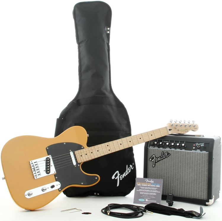 Squier Affinity Tele Pack with Frontman 15G Amplifier - Butterscotch Blonde image 1