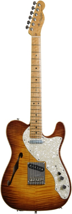 Fender American Select Series Telecaster - Thinline, Violin Burst image 1