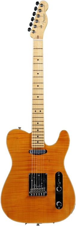 Fender Select Carved Top Telecaster - Maple Amber image 1