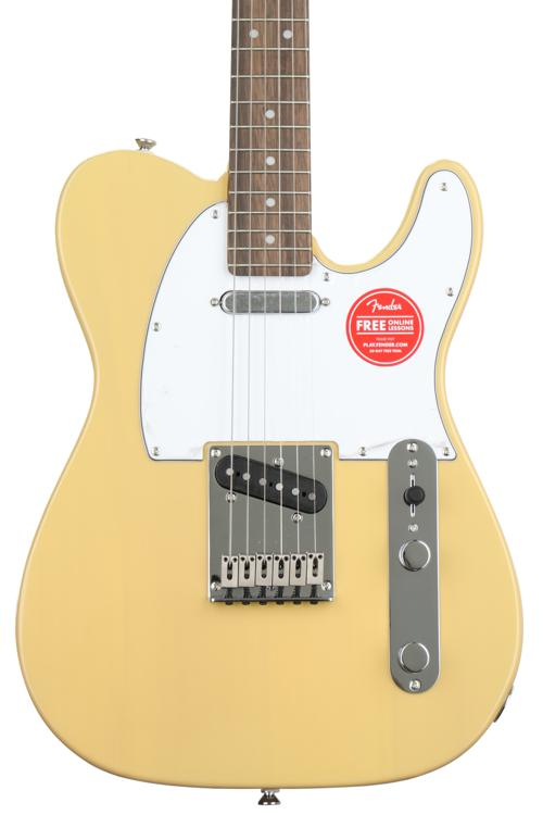 squier standard telecaster vintage blonde w indian laurel fingerboard sweetwater. Black Bedroom Furniture Sets. Home Design Ideas