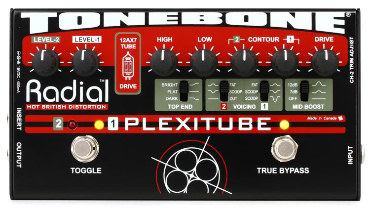 Radial Tonebone Plexitube 2-channel Tube Distortion Pedal image 1