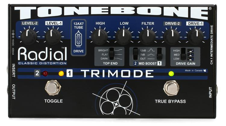 Radial Tonebone TriMode Tube Distortion Pedal image 1