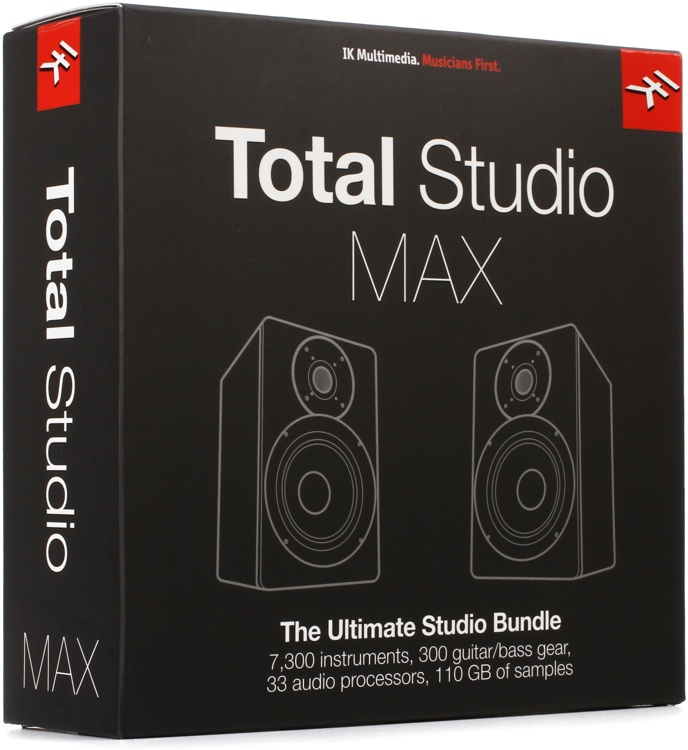 IK Multimedia Total Studio MAX Instruments and Effects Bundle (boxed with USB Drive) image 1