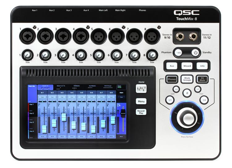 QSC TouchMix-8 Touchscreen Digital Mixer image 1