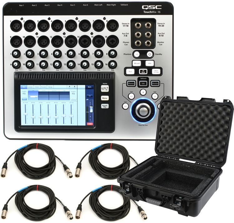 QSC TouchMix-16 Mixer with Case and Cables image 1