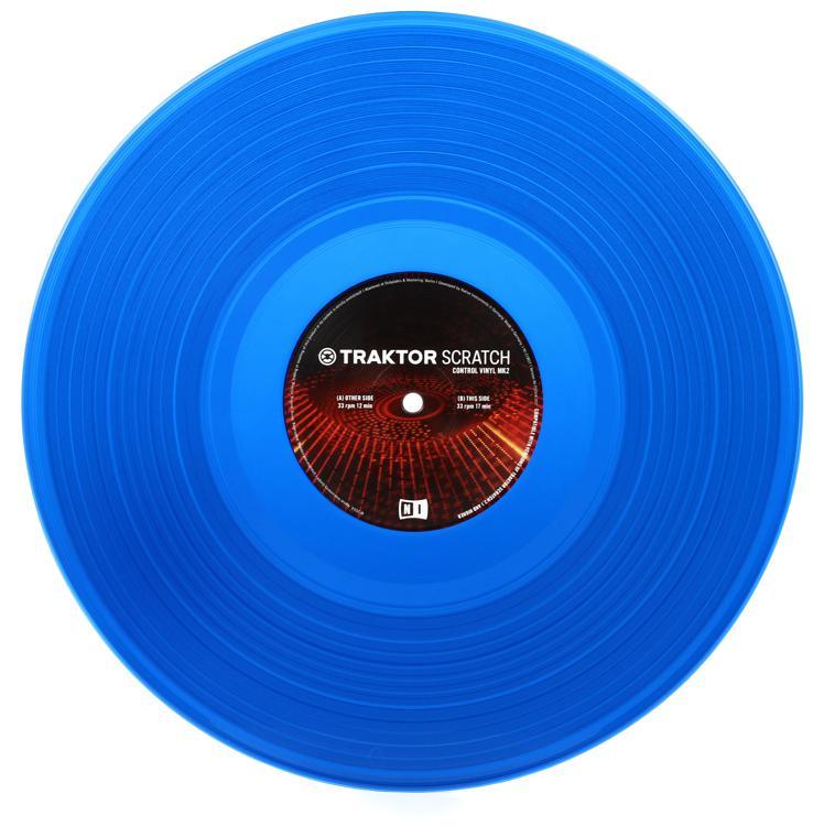 Native Instruments Traktor Scratch Control Vinyl MK2 - Blue image 1