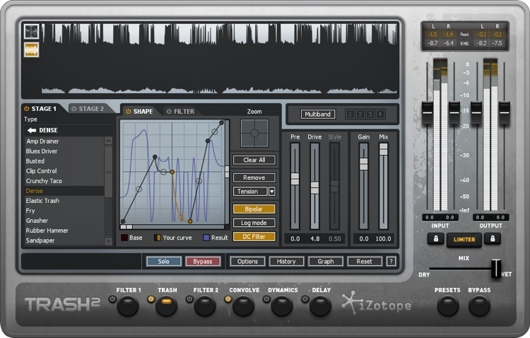 iZotope Trash 2 Multiband Waveshaping Distortion Plug-in - Academic Version image 1