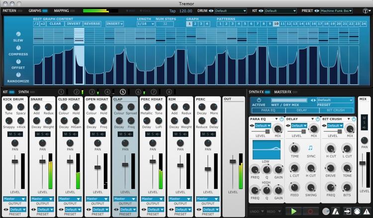 FXpansion Tremor Analog-modeled Drum Synthesizer image 1