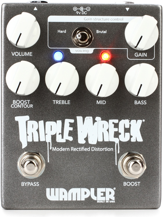 Wampler Triple Wreck High Gain Distortion Pedal image 1