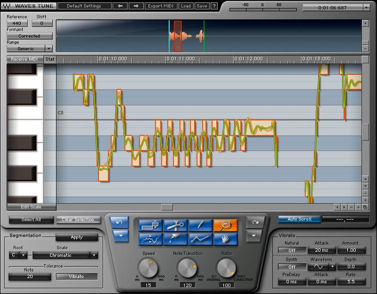 Waves Tune Plug-in