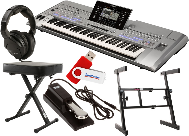 Yamaha Tyros5 61-key Essential Keyboard Bundle image 1
